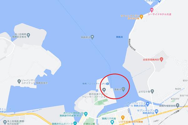 舞鶴港 Googleマップ