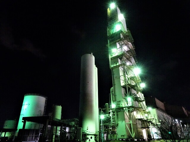 工場夜景 若松区南二島エリア